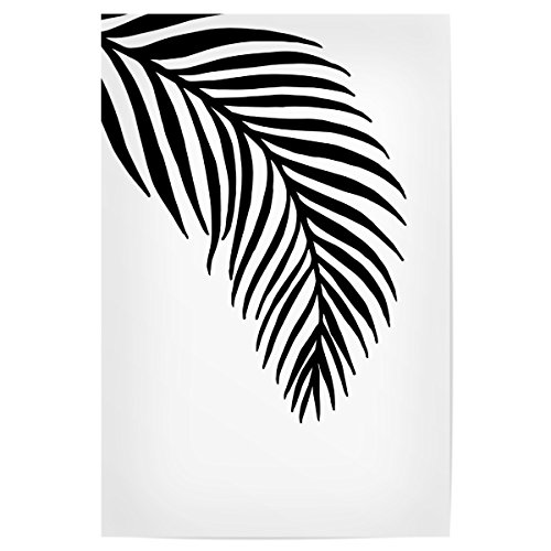 artboxONE Poster 30x20 cm Palm Leaves White - Motif Two von Künstler Planeta444 (Palm Leaf White)