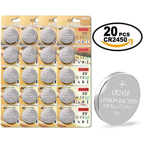 CR2450 Batterie 3V Lithium Knopfzelle 600 mAh Uhren Digital Foto Kamera Küche Küchen Waage...