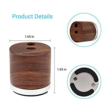 Samdi Holz Mini Ladegerät & Halterapple Pencil Charing Dock Stand Für Apple Ipad Pro Bleistift Ladegerät Dock Stehen (Schwarze Walnuss) 6