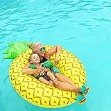 XL Aufblasbare Ananas Luftmatratze, Schwimmreifen, Wasserspielzeug