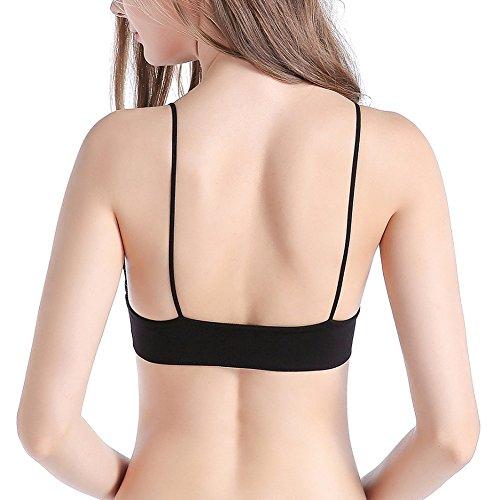 Brightup Femme Soutien-gorge en bikini Bra Brassiere de sport Noir