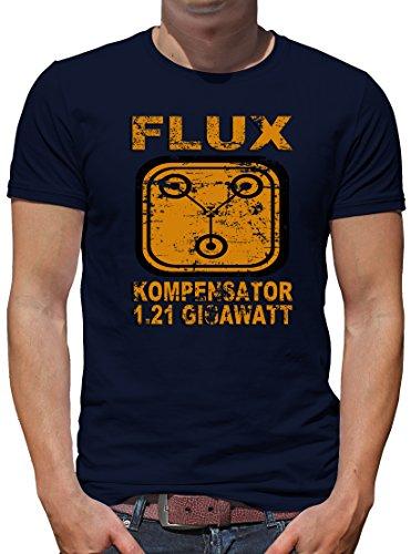 TLM Flux Kompensator 1.21 Gigawatt T-Shirt Herren M Dunkelblau (Zukunft Halloween Kostüme)