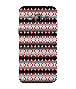 Fuson Designer Back Case Cover for Samsung Galaxy On7 G600Fy :: Samsung Galaxy Wide G600S :: Samsung Galaxy On 7 (2015) (Red Black Repetive Design Professional Bussiness)