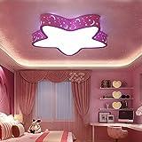 GQLBPlafonnier pour chambre d'enfant chambre garçon fille ferrari de chambre à l'éclairage LED 450mm, bleu