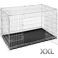 Caja de transporte perros Caja de transporte Auto Caja Metal rejilla caja en diferentes tamaños (S–XXL)
