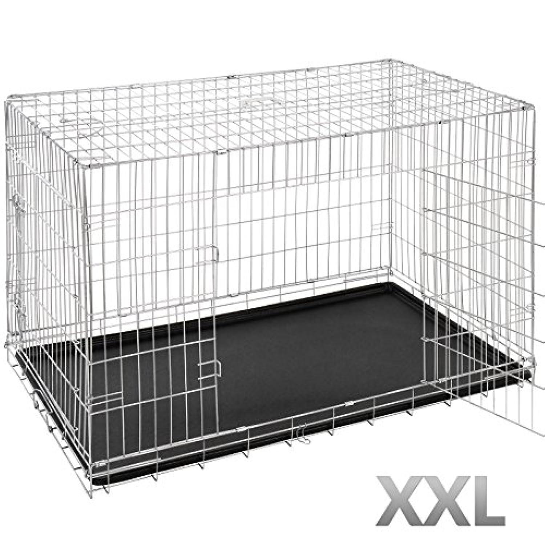 leopet cage de transport pliable pour chien avec 2. Black Bedroom Furniture Sets. Home Design Ideas