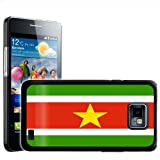 Fancy A Snuggle - Carcasa rígida para Samsung Galaxy S2 i9100, diseño de la bandera de Surinam