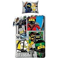 LEGO Ninjago biancheria bambini leg611bl 140x 200cm + 70x 90cm