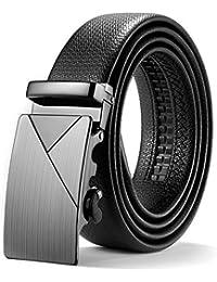 ITIEZY Men's Ratchet Belt with Automatic Buckle Black Brown(Elegant Style)