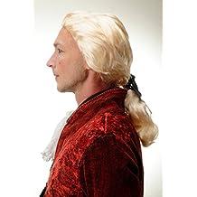 WIG ME UP ® - 4287-P88 Peluca Halloween Carnava Barroco rubio claro noble poeta condo Dracula vampiro