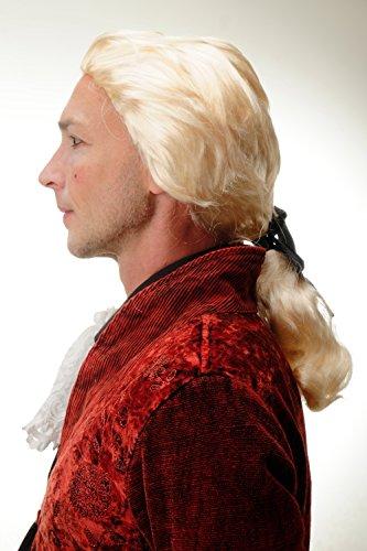 Wig me up ® -4287-p88 parrucca carnevale halloween biondo coda barocco nobiluomo poeta conte principe vampiro dracula