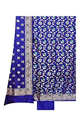 Royal Blue Silk Suit Dupatta