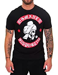 DSguided Herren Osmanen Frankfurt Support T-Shirt Shirt 156 Osmanli Tugra BOXCLUB