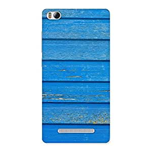 Classic Blue Wood Texture Print Back Case Cover for Xiaomi Mi4i