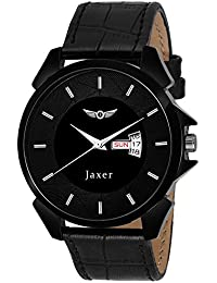 Jaxer Day And Date Black Dial Analog Watch For Men & Boys - JXRM2110