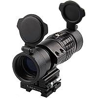 KnightTec Magnifier Scope 3XMagnification pour la Vue Red Dot Flip vers Le Haut pour Les lentilles optiques Lens Side Picatinny Rail