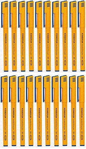 Staedtler blau Schreibstifte 0,6mm Line (20Stück) waschbar Tinte 309