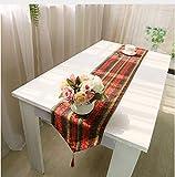 NKLHJ Tischläufer Gestreiften Leinen Tischläufer Elegante Hochzeit Tischläufer Couchtisch Mat Hause (30 * 180 cm)
