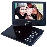JAY-tech portabler DVD/DVB-T Player 968RX (22,86 cm (9 Zoll) TFT LCD-Display 270° drehbar) schwarz
