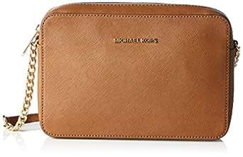 Michael Kors Jet Set Travel - Borse a secchiello Donna, Brown (Luggage), 1.9x10.2x22.9 cm (W x H L)