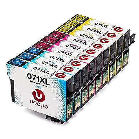 UoopoCompatible Remplacer pour Epson T0712 T0713 T0714 Cartouches d'Encre Grande