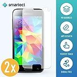 smartect Samsung Galaxy S5 Mini Panzerglas Folie - Displayschutz mit 9H Härte - Blasenfreie Schutzfolie - Anti Fingerprint Panzerglasfolie [2 Stück]
