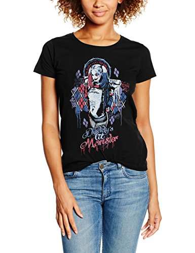 DC Comics Suicide Squad Daddys Lil Monster, Camiseta para Mujer