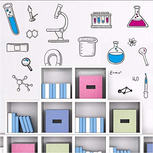 Shifeii Wandaufkleber Wissenschaft Chemischen Instrument Klasse Dekoration Im Kindergarten Klasse Abnehmbare Wandtattoo Pvc Selbstklebende Wand