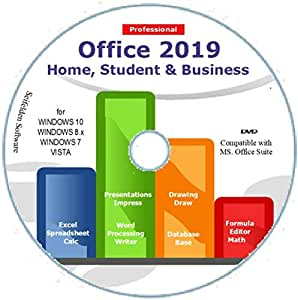Office Suite 2019 Home Student and Business for Windows 10 8.1 8 7 Vista 32 64bit  Alternative to Office 2016 2013 2010 365 Compatible with Word Excel PowerPoint