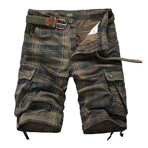 BOLAWOO-77 Pantaloncini Cargo da Estivi Mimetici Uomo Pantaloncini Bermuda Uomo Mode di Marca Pantaloni da Uomo Pantaloni da Lavoro Armadietti A Mezzo Pantaloncini Corti (Color : 2#, Size : L)