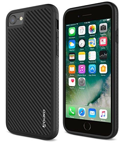 ADURO iPhone 8/iPhone 7Schutzhülle, Karbonfaser-Fall mit Zwei Schicht Stoßdämpfung Gummi-Griff und Rand, Hard Cover Drop Schutz Schutzhülle für Apple iPhone 8und iPhone 7 -