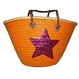 Buckle Up Korbtasche / Strandtasche C-P-Star orange-magenta (917039) NEU