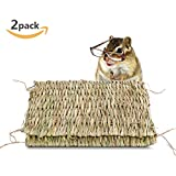 Seagrass Mat, Danlit 100% Natural Hand Woven Grass Pet Bed For Rabbits, Bunnies, Hamsters, Guinea Pig, Ferret, Parrot And Other Small Animals(2 Pack)