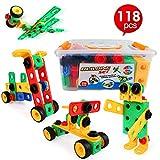 LBLA Blocchi Costruzioni per Bambini, Giocattoli Bambina 7 Anni,Giocattoli Creativi,118 Pezzi Giocattoli Bambina 4 Anni,Giocattoli Bambina 5 Anni,Giocattoli Bambina 6 Anni