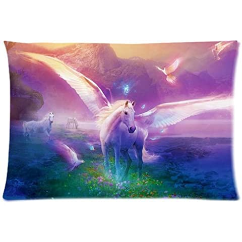 Casebynow Custom Unicorn Personalized Queen Size(20x30) 300 Thread Count Pillow