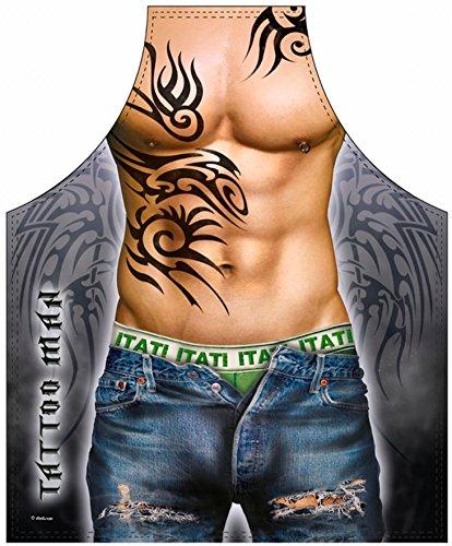 e - Muskulöser Mann mit Tattoos ()