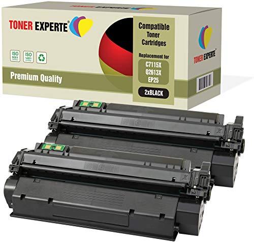 2er-Pack TONER EXPERTE® Premium Toner kompatibel zu C7115X Q2613X EP-25 für HP Laserjet 1000, 1005, 1200, 1220, 1300, 3080, 3300, 3310, 3320, 3330, 3380, Canon LBP1210 - Laserjet 1000 1200 1220 3300