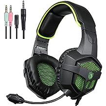 SADES sa-807multiplataforma Gaming Headset, auriculares para juegos con micrófono para Xbox One PS4pc portátil Mac ipad Smartphone–empaquetado al por menor