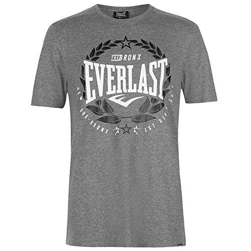everlast tshirt Everlast Herren-T-Shirt mit Lorbeermuster, kurzärmelig Gr. X-Large, grau