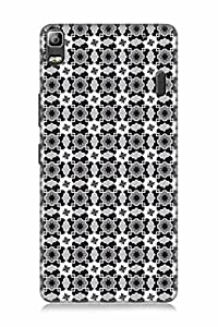 FABCASE Premium seamless pattern,balck and white,connections Printed Hard Plastic Back Case Cover for Lenovo A7000