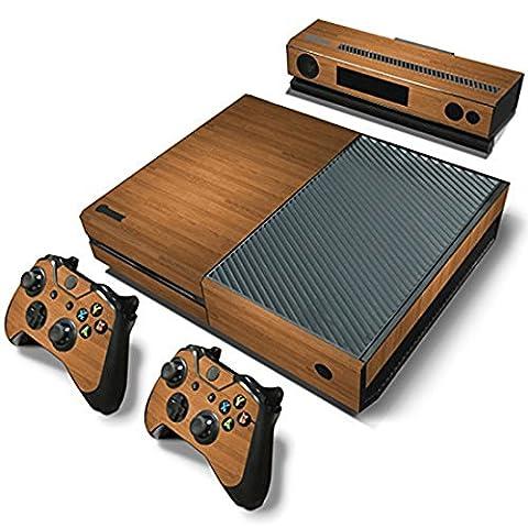 Stillshine Xbox ONE Design Folie Aufkleber für Konsole + 2 Controller + Kamera Sticker Skin Set (Wood Brown)