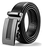 ITIEZY Cintura da Uomo In Pelle con Fibbia Automatica Nero Marrone Casuale Moda