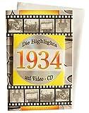 Geburtstagskarte 1934 mit Video-CD Jahreschronik