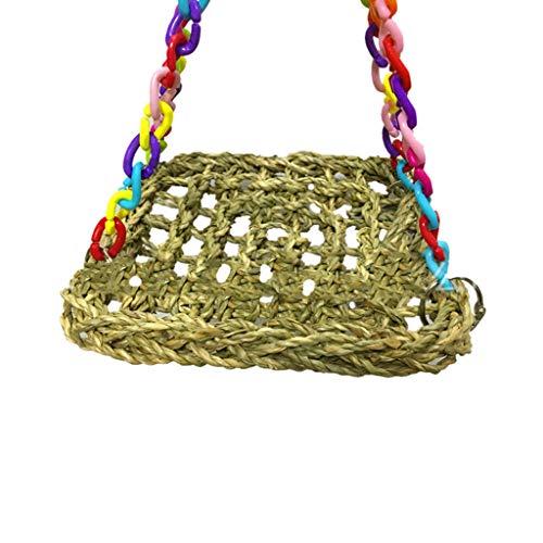 Xmiral Pratica Durevole conveniente conveniente Pappagallo griglia griglia Furetto Uccello Amaca per Animali 1 pz (18 * 18 * 25cm,Multicolore)