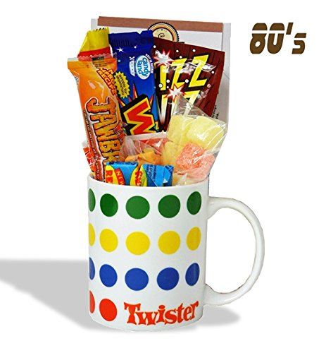 Twister Mug with a bone bending portion of 80's Sweets
