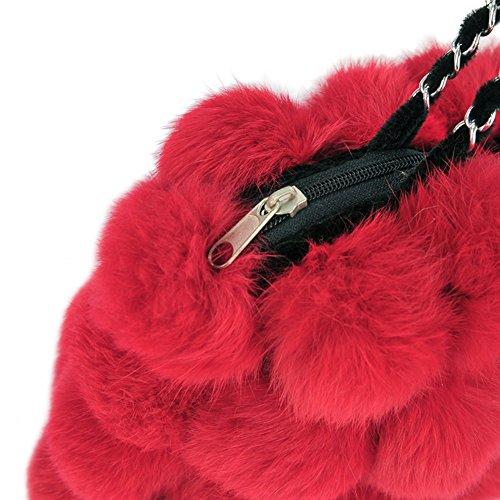Genda 2Archer Sacchetto di Modo Lane Artificiali Borsa a Tracolla a Mano per le Donne (32 cm * 6cm * 20cm) (Vino Rosso) Rosso