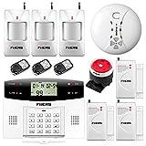 Fuers - G2 GSM/PSTN Alarme Détecteur Capteur Wireless Télécommande Antivol Home Sécurité, Voix FR, Détecteur d'Ouverture de Fenêtre et Porte sans Fil pour Alarme de Maison 433MHZ