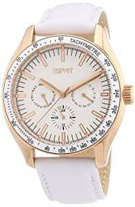 Esprit Damen-Armbanduhr XL Orbus Rosegold Analog Quarz Leder ES103012004