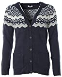 Flashlights Damen Strickjacke Cardigan Norweger Navy 36/38