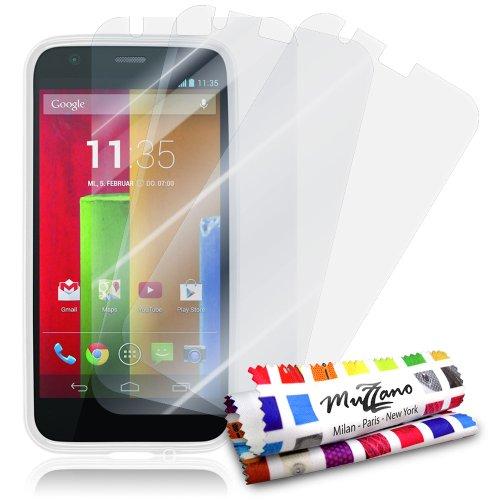 MUZZANO FPR-146-288-NNNN Displayschutzfolie, Motorola Moto G, durchsichtig (Telefon-abdeckungen G Motorola)